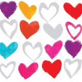【ナプキン】 Paper Hearts