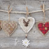 【ナプキン】 Folksy Hearts