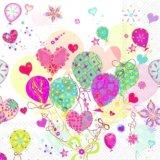 【ナプキン】 LOVELY BALLOONS