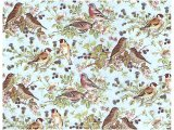 BIRD CHINTZ BLUE  (A4)