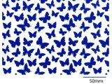 BUTTERFLIES CHINTZ BLUE  (A4)