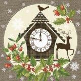 【ナプキン】 Christmas Clock