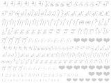 【ガラス用】ハートアルファベット大文字