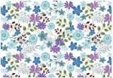 Blue & Purple Floral