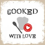【ナプキン】 Cooked with Love white