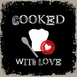 【ナプキン】 Cooked with Love black