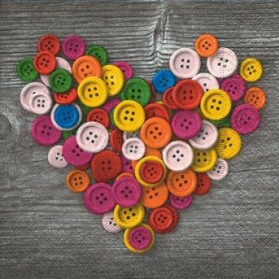 画像1: 【ナプキン】 Colourful buttons
