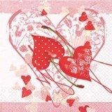 【ナプキン】 Cherry Hearts