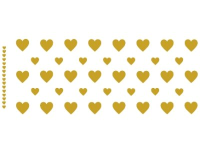 画像1: GOLD HEARTS MUG