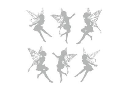 画像1: 妖精シルエット