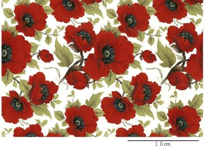 画像1: RED POPPY CHINTZ CLEAR LARGE (A4)