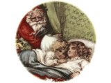 SANTA & SLEEPING CHILDREN