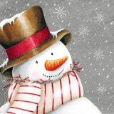 【ナプキン】 Smiling Snowman