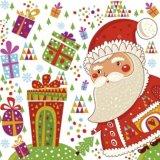 【ナプキン】 Santa with Gifts